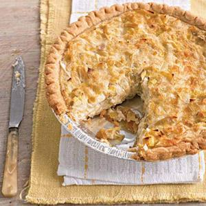 Savory Cheese and Leek Pie