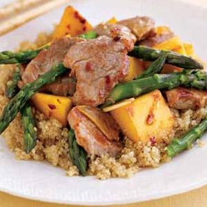 Mango Pork and Asparagus Stir-Fry