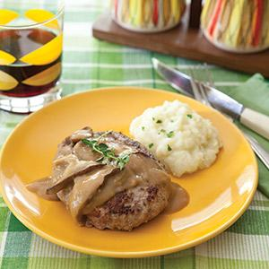 Salisbury Steak with Shiitake Gravy
