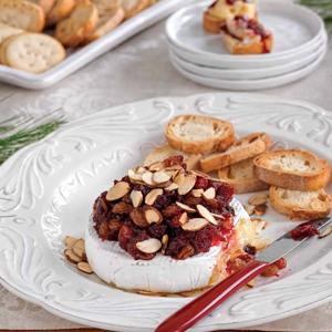 Warm Brie with Cranberry Chutney