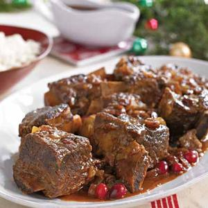Cider-Braised Short Ribs with Cranberries