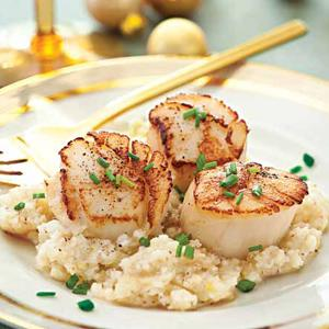 Seared Scallops with Celery Root Puree