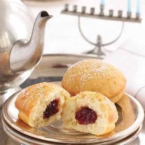 Traditional Jelly Doughnuts (Sufganiyot)