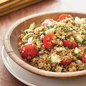 Toasted Quinoa-Pistachio Tabbouleh
