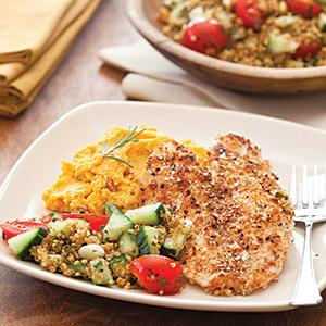Pecan-Crusted Tilapia with Winter Squash Puree