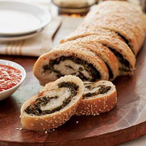Kale and Mozzarella Stuffed Bread