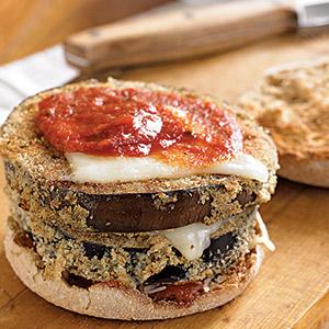 Hot and Toasty Eggplant Parm Sandwiches