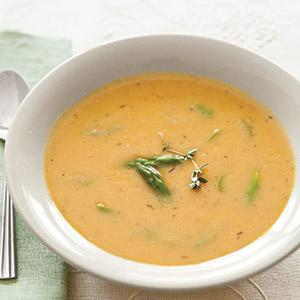 Creamy White Bean Soup with Asparagus