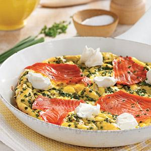 Spring Salmon and Chive Frittata