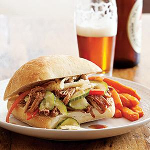 Pulled Pork Sandwich with Jicama Slaw