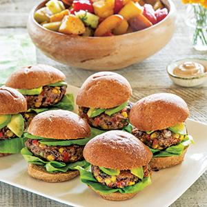 Black Bean Sliders with Balsamic Aioli
