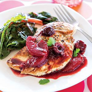 Chicken with Plum-Cherry Sauce