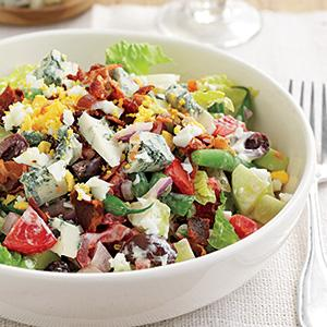 Chopped Salad with Blue Cheese Dressing
