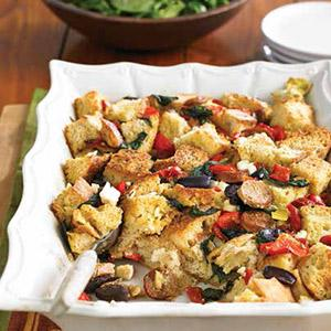 Mediterranean Bread Pudding