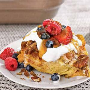 Pumpkin-Pecan Baked French Toast