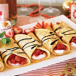 Milkmaids' Ricotta-Berry Crepes