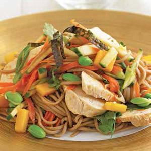 Sesame Soba Chicken Salad