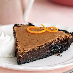 Orange-Scented Chocolate Chess Pie