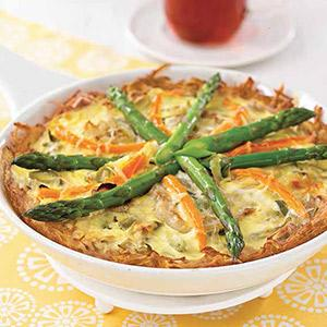 Potato-crusted Spring Vegetable Tart
