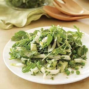 Green And White Salad With Basil Dressing