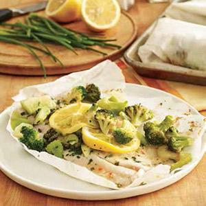 Lemon Garlic Flounder