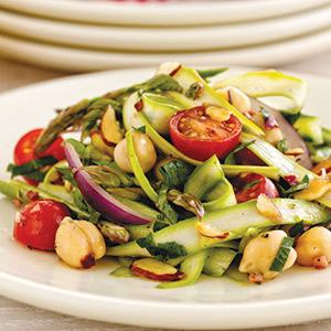 Italian Asparagus Ribbons with Chickpeas