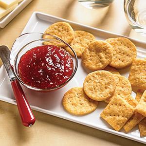 Zesty Cheddar Cornmeal Crackers