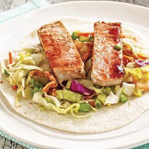 Korean-Style Fresh Tuna Tacos