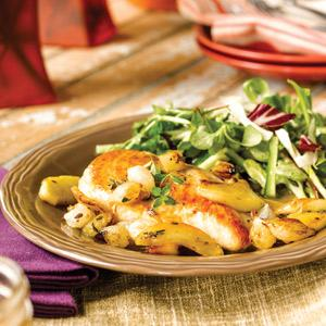 Chicken with Roasted Thyme-Apples