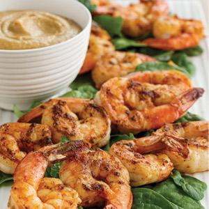Shrimp Skewers with Peanut Dipping Sauce