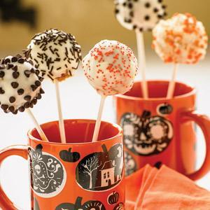 Pumpkin-White Chocolate Cake Pops
