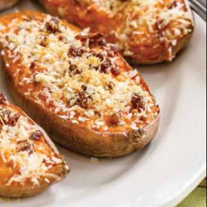 Twice-baked Sweet Potatoes With Bacon and Gruyere