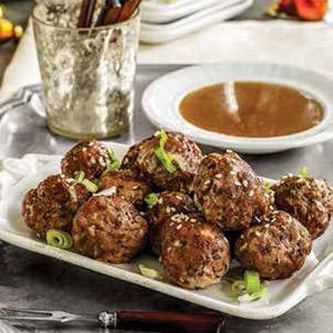 Glazed Asian Meatballs