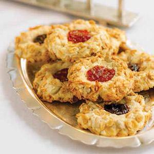 Maple Crunch Thumbprint Cookies