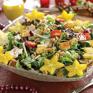 The Santa Clause Tossed Salad with Rosemary Croutons (and Dressing on the Side)