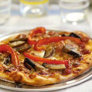 Portabella Mushroom and Red Pepper Pizza
