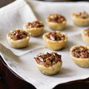 Mini Sticky Pecan Tarts with Cream Cheese Crust
