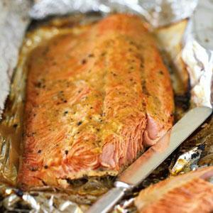Roasted Salmon with Brown-Sugar Glaze