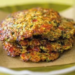 Zucchini and Green Olive Latkes
