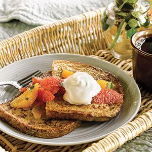 Vanilla French Toast with Citrus Fruit Salad