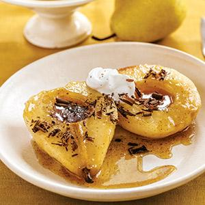Roasted Caramel Pears with Creme Fraiche