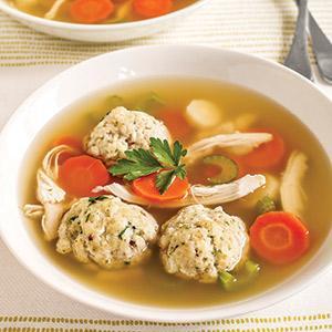 Better For You Matzo Ball Soup