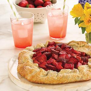 Strawberry-Rhubarb Galette