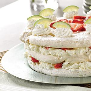 Strawberry-Lime Dacquoise