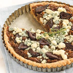 Caramelized Onion Tart with Blue Cheese and Figs