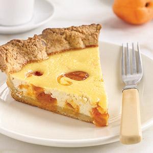 Apricot-Swirled Ricotta-Honey Tart