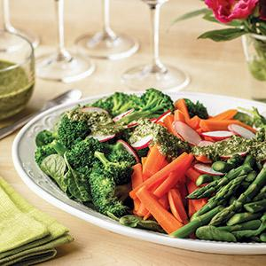 Spring Mixed Vegetable Salad with Salsa Verde