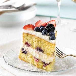Mixed Berry Lemon Mascarpone Cake
