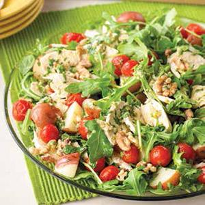 Arugula Chicken Salad with Spicy Lime Vinaigrette