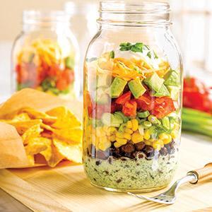 Taco Salad with Creamy Cilantro Dressing
